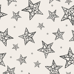 Vector seamless stars pattern