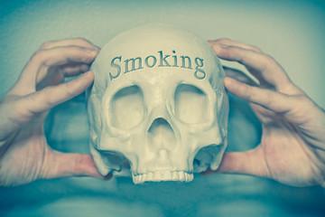 Skull Engraving Smoking