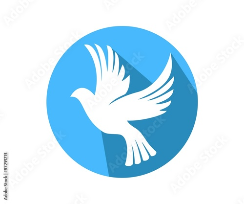 Dove Symbol Peace Love Unity Respect Circle Stock Image And Royalty