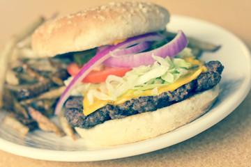 Cheeseburger Home made Fries