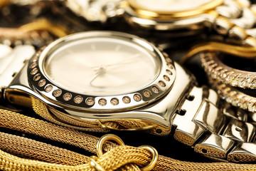 luxurious chrome watch