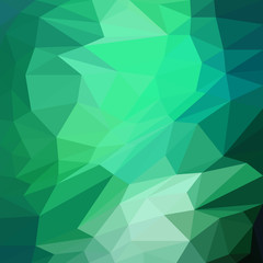 Abstract green triangle background, vector illustration
