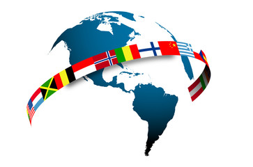 mondo, bandiere, Cina, asia, oriente, ovest, lingue