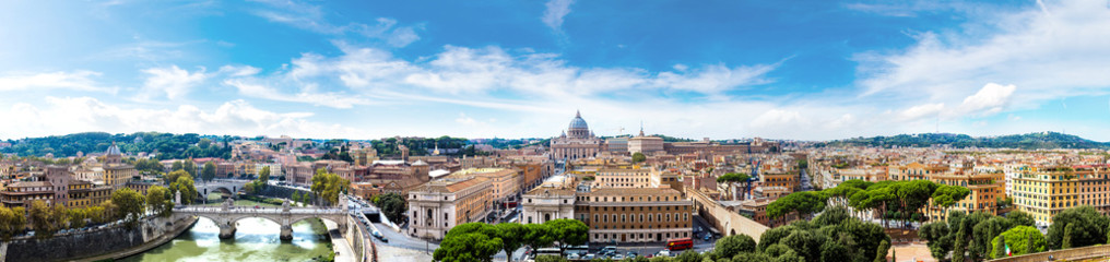 Fotomurales - Rome and Basilica of St. Peter in Vatican