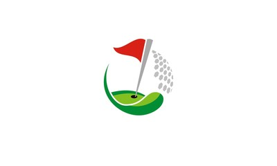 golf flag tournament logo