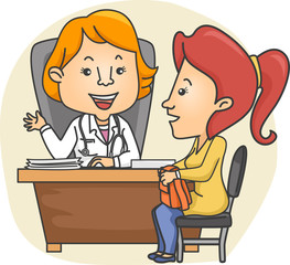 Girl Check Up Doctor