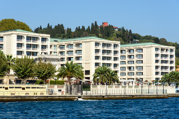 Apartments at the Bosphorus in Istanbul, Turkey