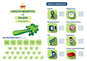 health benefits of celery infographic