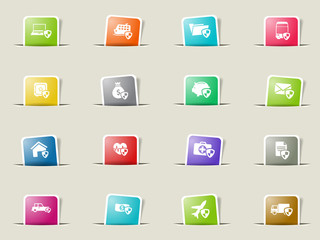 Insurance simply icons