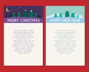 Christmas greeting card vector template