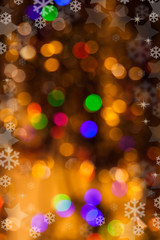 Christmas background of colored Christmas lights