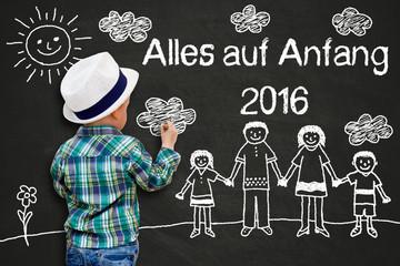 Kinderzeichnung - Alles auf Anfang 2016!