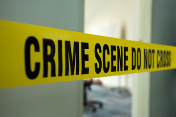crime scene do no cross and room entrance background