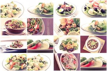Healthy Salad Collage