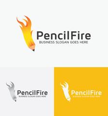 Pencil Fire Logo