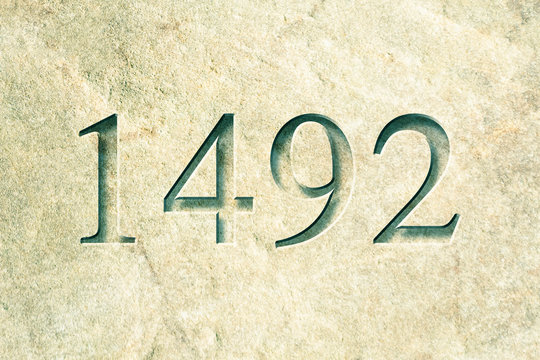 Engraved Historical Year 1492