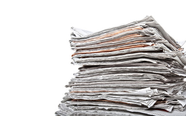 stack of daily newspapers