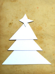 Christmas tree from paper