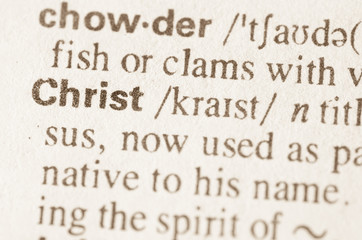 Dictionary definition of word Christ