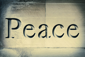 Engraved Word Peace