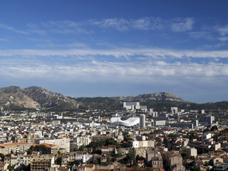 panorama of Marseille France