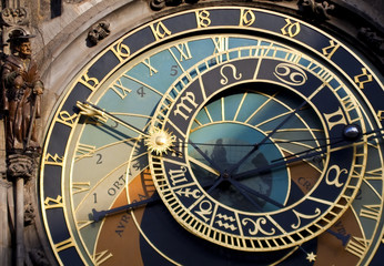 Prague. Astronomical clock in the historical city center
