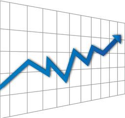 Flèche - prévision - progrès - profit