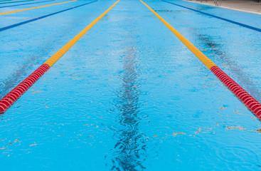 Empty Swimming Pool and rain