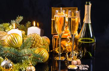 Luxury gold themed Christmas background