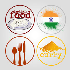 4 icons indian food