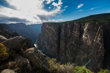 Staande foto Canyon Black Canyon of the Gunnison National Park