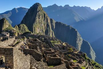 Inside Machu Picchu, the sacred city of Incas, Peru