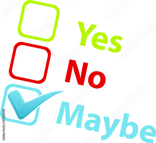"""Yes No Maybe"" Stock image and royalty-free vector files ..."