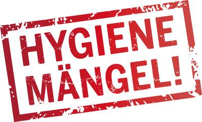 roter Stempel Hygienemängel