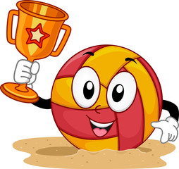 Mascot Beach Volleyball Trophy