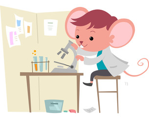 Cute Mouse Scientist