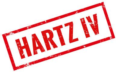 Hartz IV Stempel rot