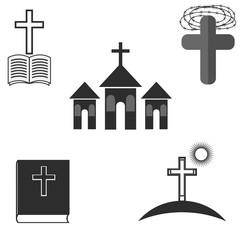 Set of Religion Icons