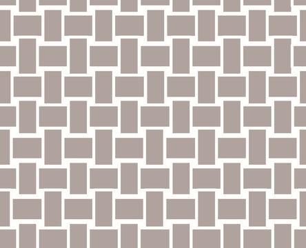 Vector beige wicker texture background, seamless pattern