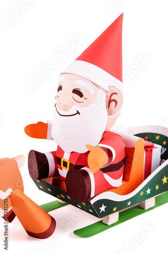 """Santa Claus papercraft"""" Imagens e fotos de stock Royalty Free no ..."""