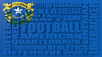 American football word cloud concept, Nevada