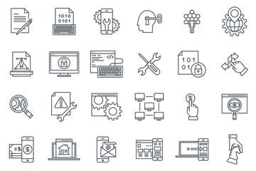 Search engine optimisation and design icon set