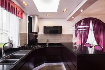 View of modern design kitchen