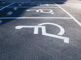 Wheelchair Handicap Sign at Parking lot