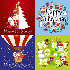 Christmas card in four designs