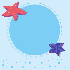 Border design with starfish
