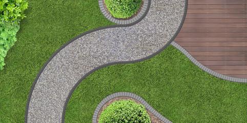 Gartenarchitektur von oben