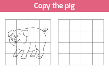 Copy the picture: pig