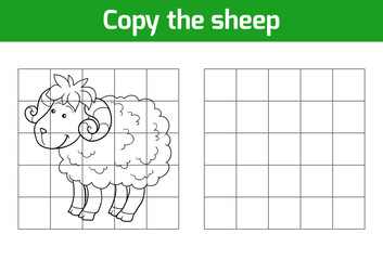 Copy the picture: sheep