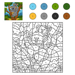 Color by number (koala family)